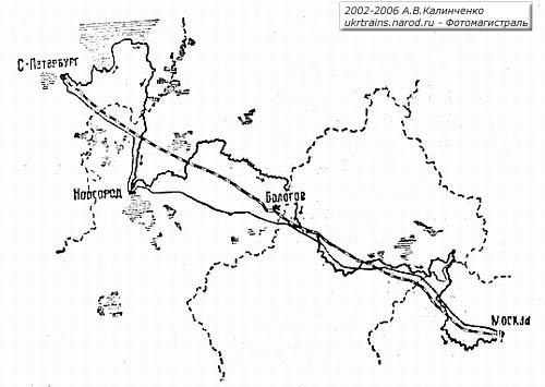 Схема трассы железной дороги